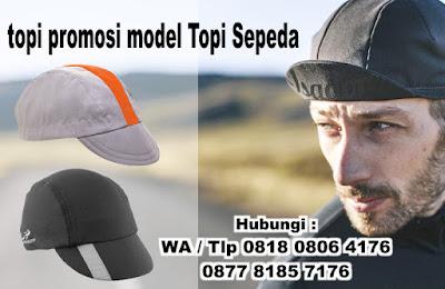 Produksi topi promosi model Topi Sepeda - sepeda cap