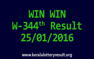 WIN WIN W 344 Lottery Result 25-1-2016