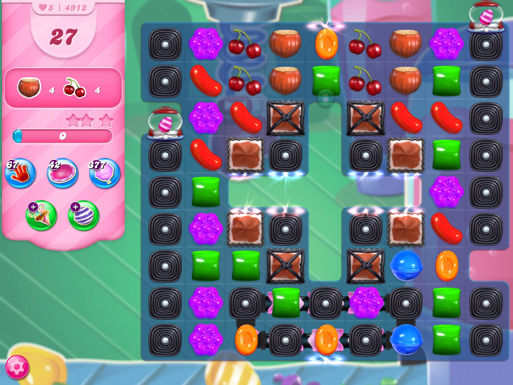 Candy Crush Saga level 4912