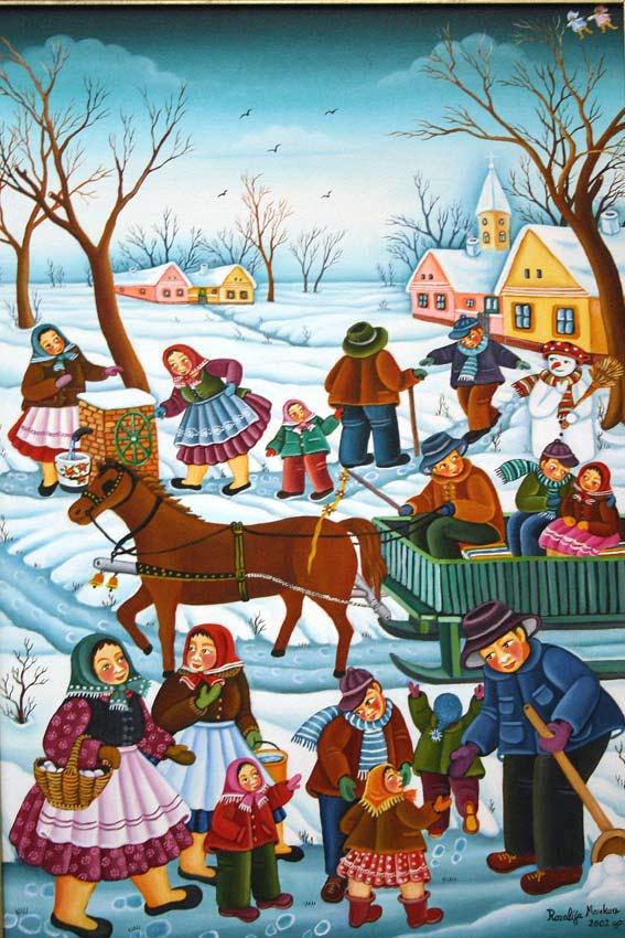 Rozalija markov serbian naive art info for Sfondi naif