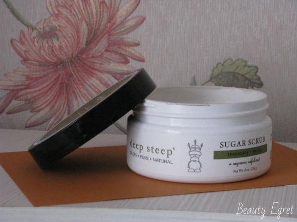 Сахарный скраб Deep Steep, Sugar Scrub, Rosemary & Mint