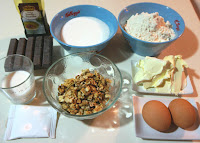 bizcocho chocolate nueces repostería receta ingredientes