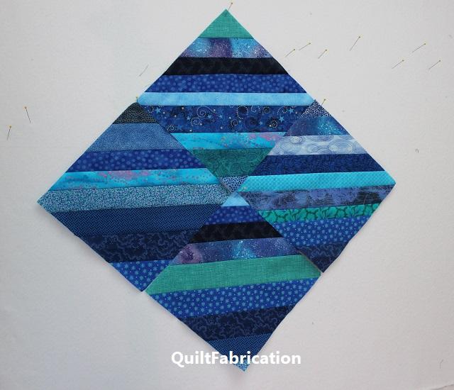 blue and aqua string blocks