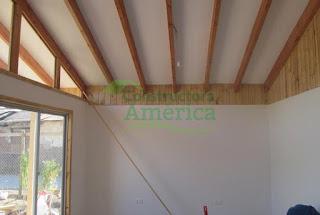 casa america chile Modelo 54mtrs2 Vinyl Siding techo por dentro