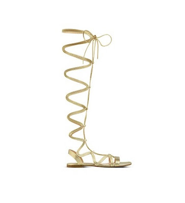 Gianvito Rossi Spring Summer 2016 Shoes  Medusa Metallic Gold gladiator flat sandals