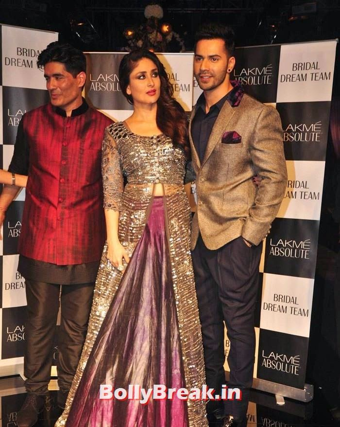 Manish Malhotra, Kareena Kapoor Khan, Varun Dhawan, Pics of Manish Malhotra Show at Lakme Fashion Week 2014