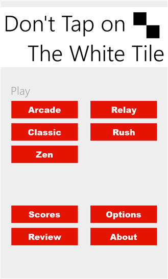 don't tap on the white tile windows phone