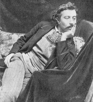 Foto de Paul Gauguin con la mano en la cara