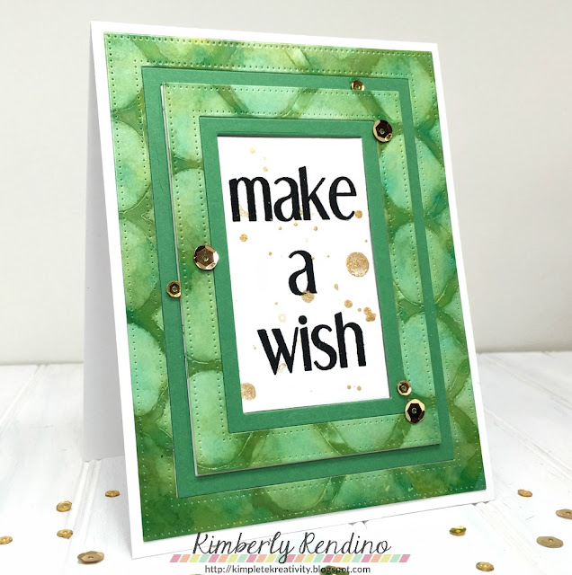 green & gold | sequins | cas-ual fridays | kimpletekreativity.blogspot.com | handmade card