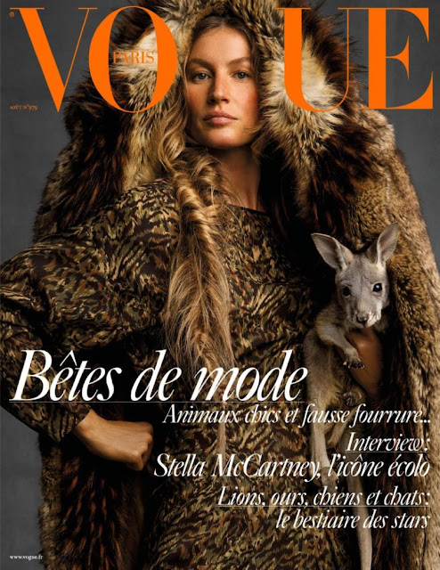 Gisele Bundchen covers Vogue Paris by Inez and Vinoodh - the august 2017 issue