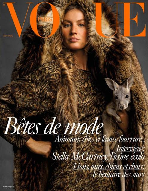 Gisele Bundchen covers Vogue Paris by Inez and Vinoodh - the august 2017 issue