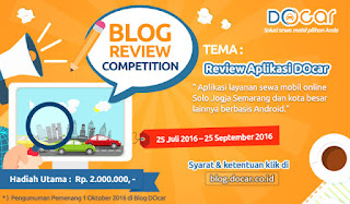 Docar Blog Review Competition, Lomba Menulis Blog Terbaru (DL September 2016)