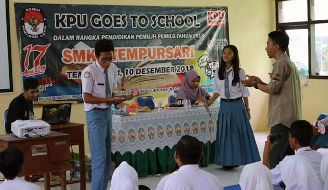 KPU Sosialisasi di Sekolah