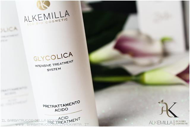 pretrattamento acido maschera 24 crema viso 12  recensione trattamento acido glicolico GLYCOLICA alkemilla cosmetics