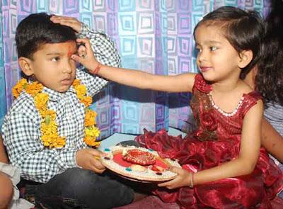 festival bhai dooj sister and brother celebration