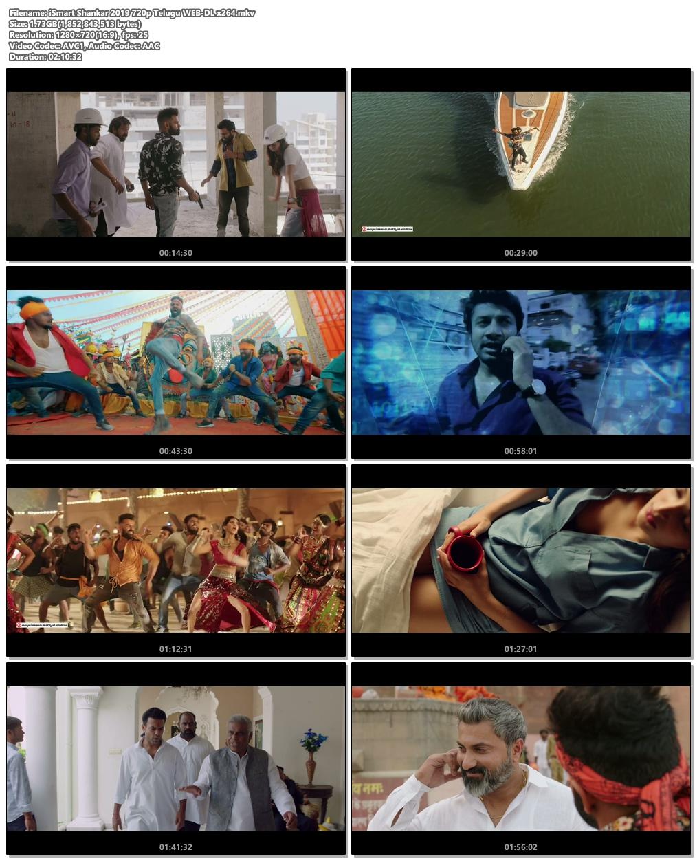 iSmart Shankar 2019 720p Telugu WEB-DL x264 | 480p 300MB | 100MB HEVC Screenshot