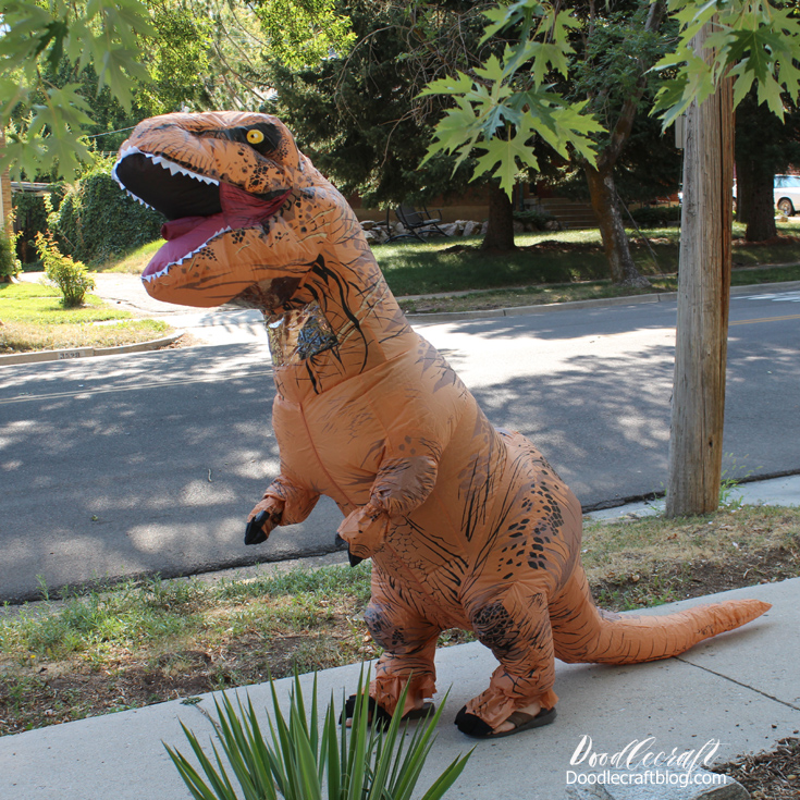 Store bought t-rex costume funny cosplay for teenager or teen.