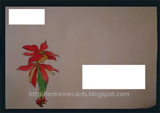 poinsettia quilt card