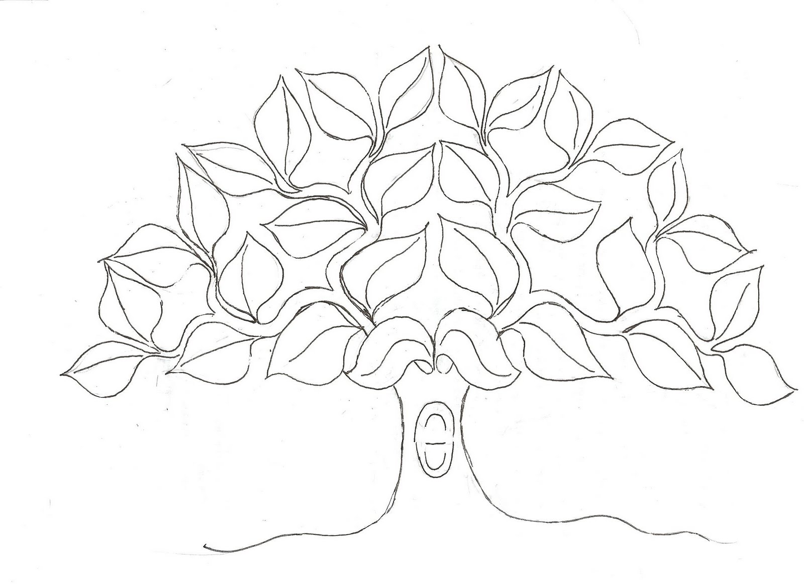 Free coloring pages of trees with no leaves for Tree trunk coloring page
