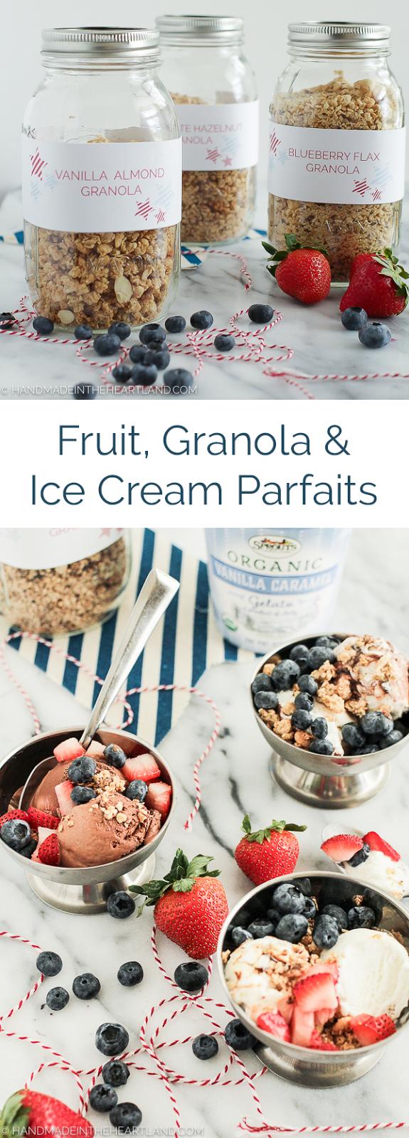 July 4th Ice Cream Parfait