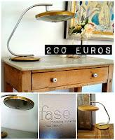 Comprar lámparas y flexos vintage marca FASE modelo 520 C de los años 50 y 60 en color dorado.