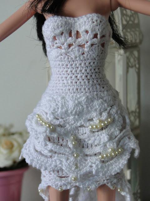 Vestido de noiva de crochê para Barbie, por Pecunia MillioM 8