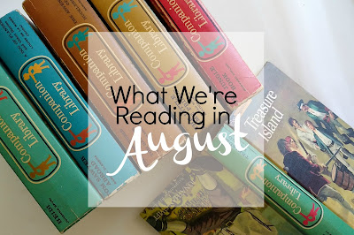 A look at the books a homeschooling family of 7 is reading in the month of August
