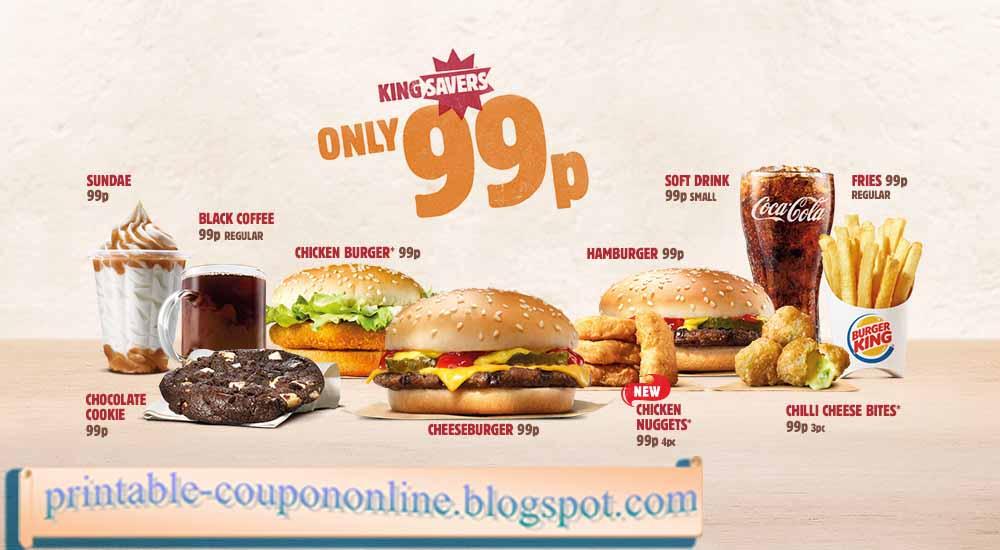 Burger king coupons uk