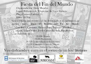 Cartel de Fiesta el Fin del Mundo, evento organizado por la editorial Otros Mundos