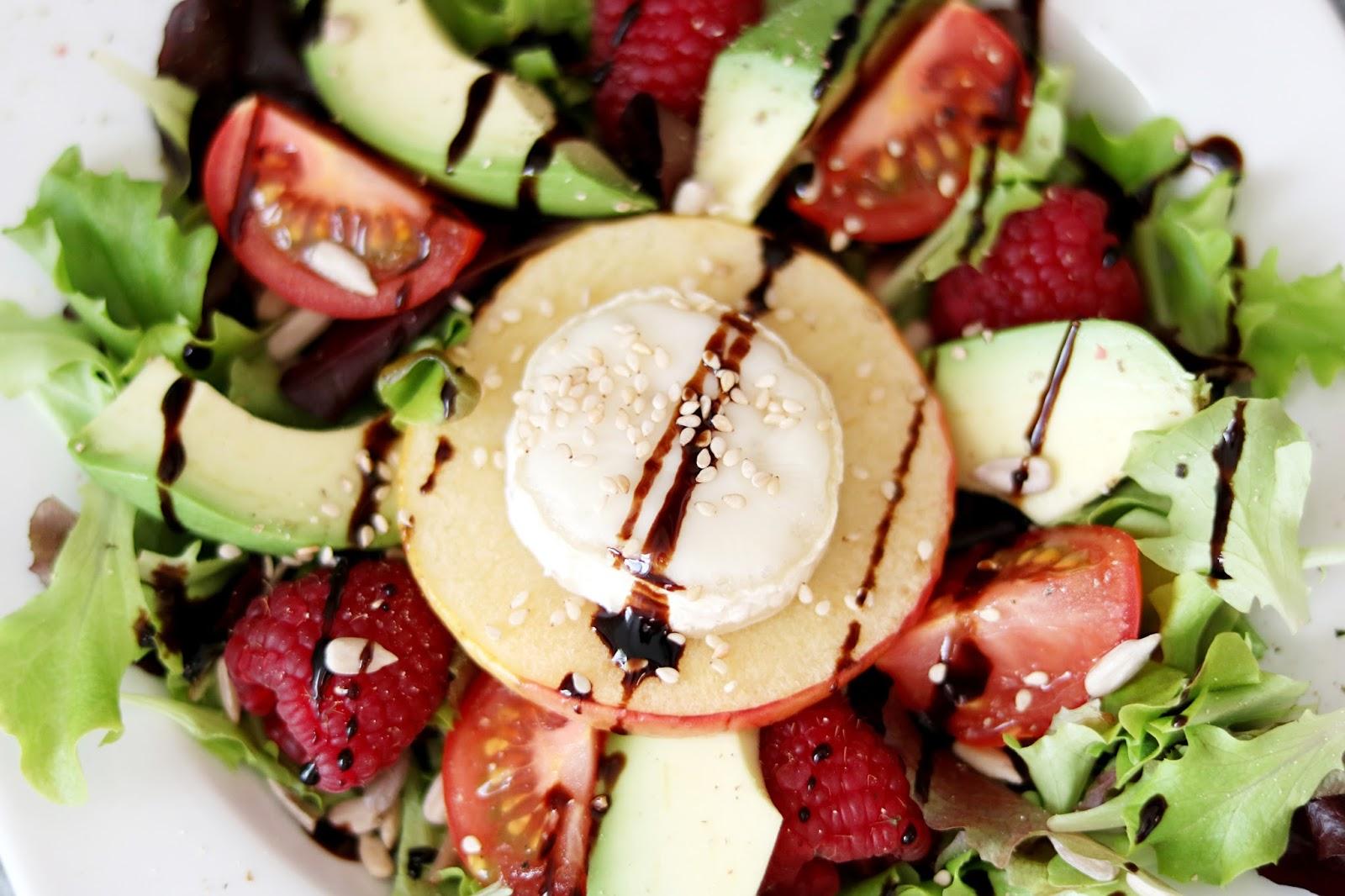 Rezept Salat Mit Ziegenkäse Himbeeren Und Avocado Mareike