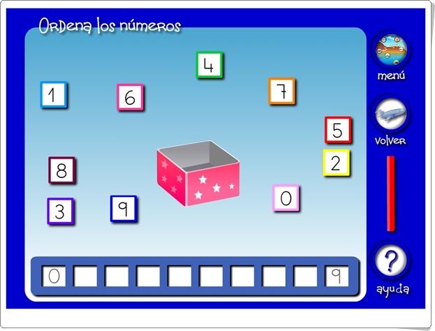 """""""Ordena los números hasta el 9"""" (Juego de Matemáticas de Infantil)"""