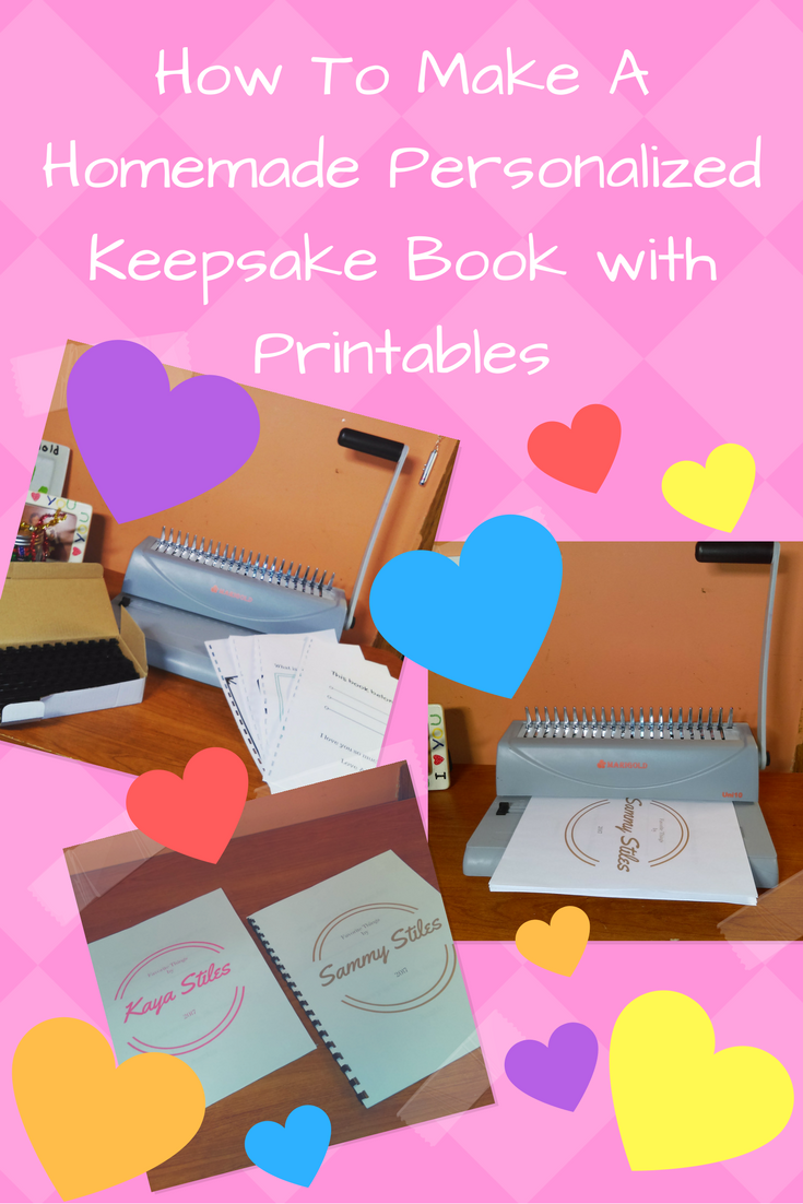 how to make a homemade personalized keepsake book with printables