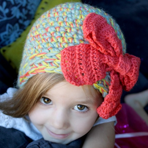 Multi-Strand Big Bow Hat - Free Pattern