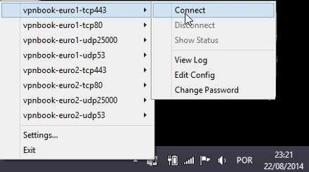Como aceder à Internet através de uma VPN