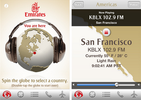Destination Radio iOS app by Emirates Airlines released