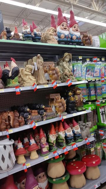Walmart gnomes,lawn ornaments, toadstools