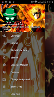 BBM Naruto Change Background With FBUI v3.2.2.8 Apk Unclone Terbaru