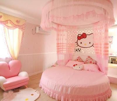 Kamar Tidur Balita Hello Kitty