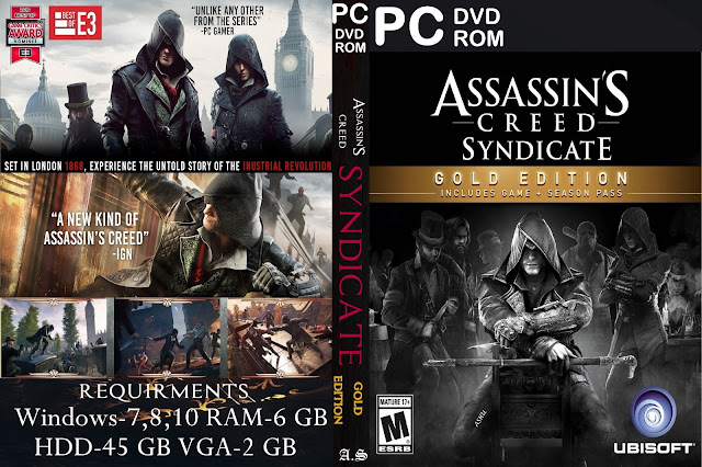 Capa Assassinss Creed Syndicate Gold Edition PC