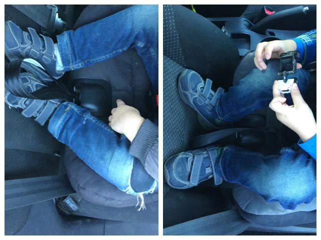 Axkid Minikid von oben: so viel Platz haben die Beine