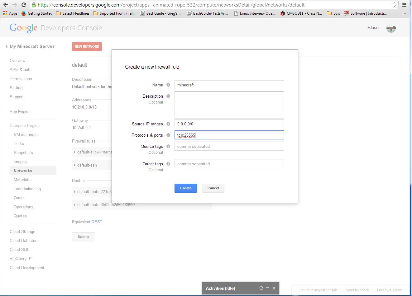 Unix Admin Online: How to run a minecraft server in Google