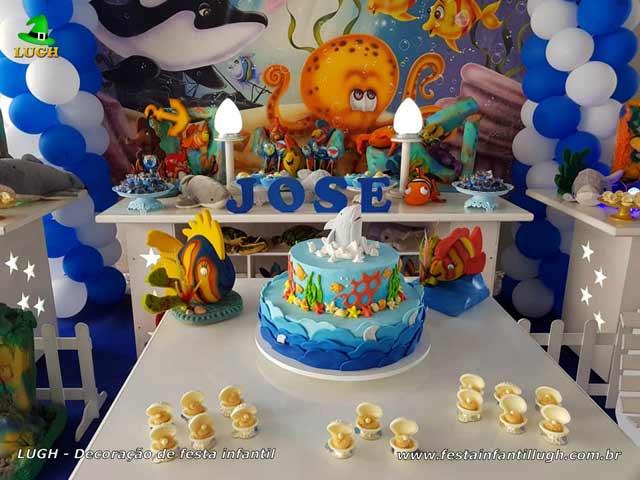 Decoração de aniversário tema Fundo do Mar, festa infantil