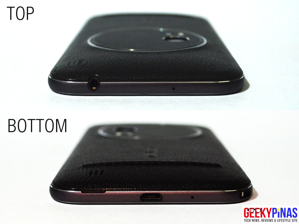 ASUS Zenfone Zoom (ZX551ML) top and bottom view