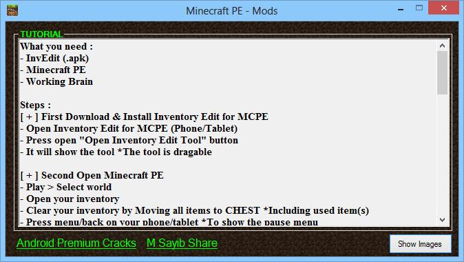 Minecraft PE Inventory Editor