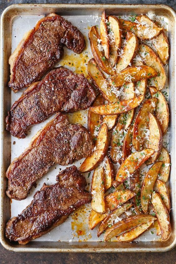 Sheet Pan Steak And Fries