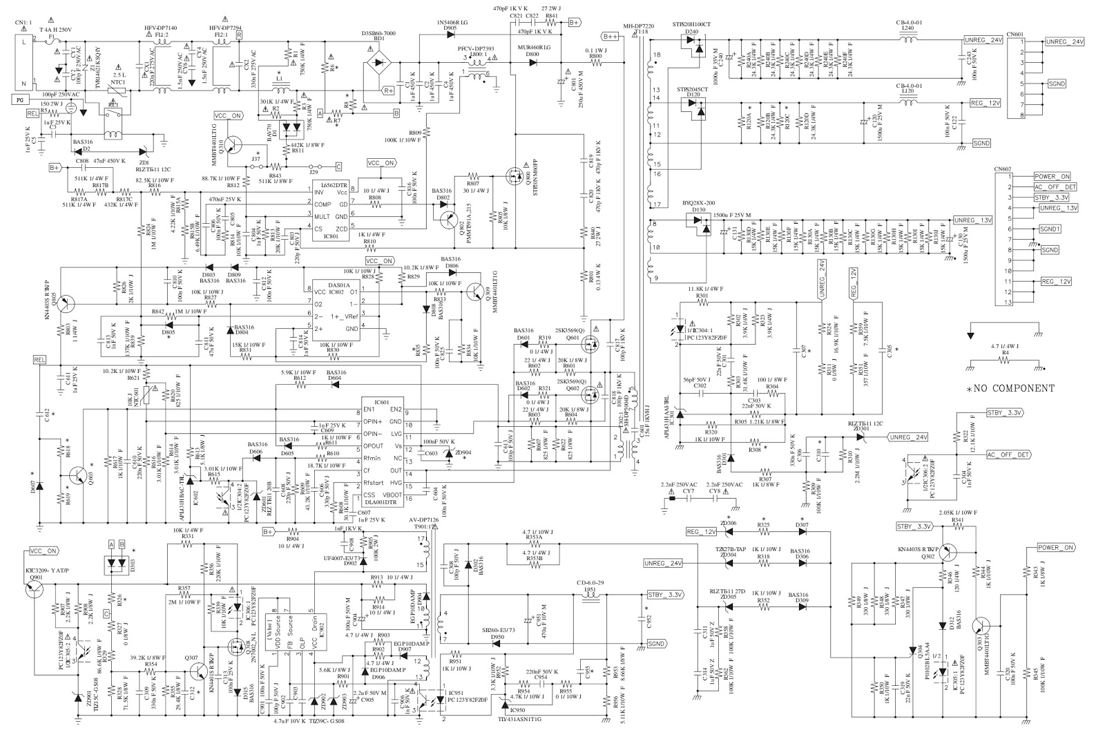 Sony KLV32M400A and Sony KLV26M400A LCD TV Power board    circuit       diagram      Electro help