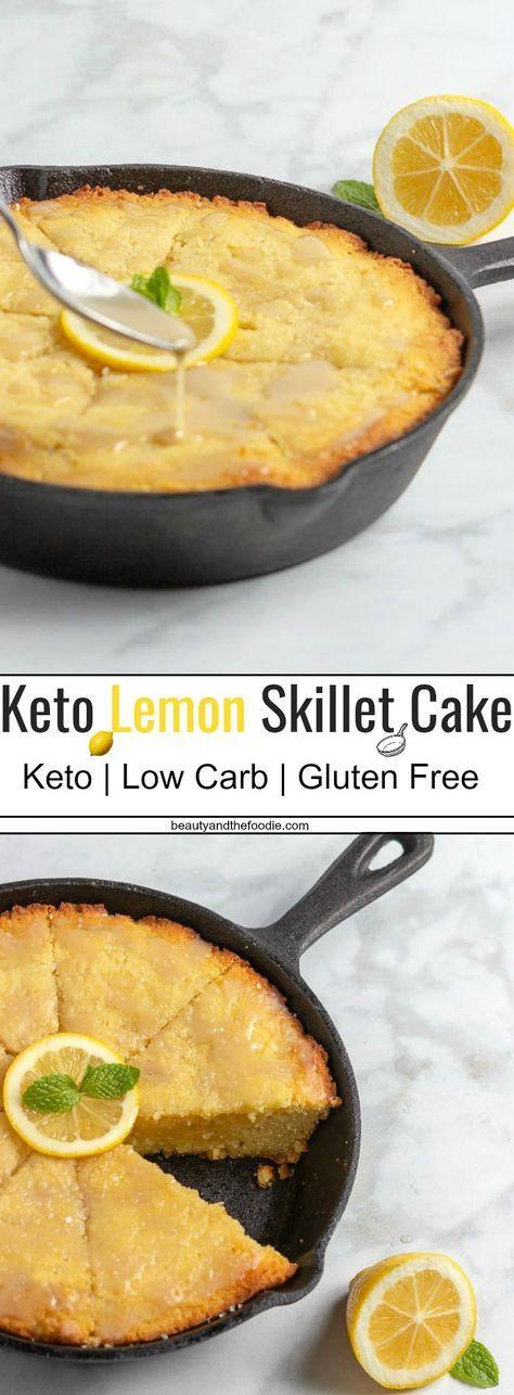 KETO LEMON SKILLET CAKE-