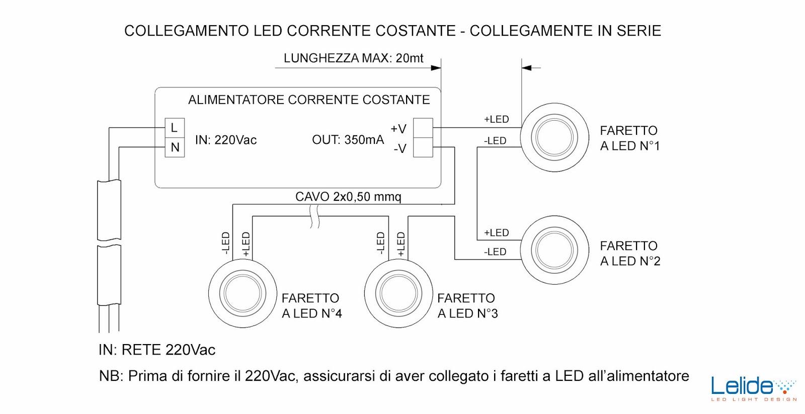 Circuito Led : Illuminazione led casa: illuminazione a led:come collegare gli