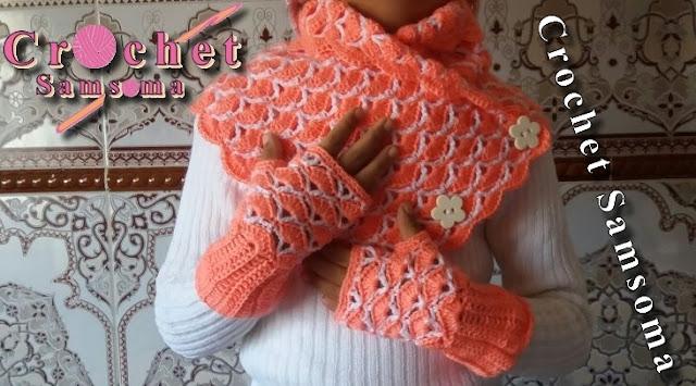 كروشيه كوفية اطفال . كروشيه كوفية للأطفال . كروشيه سكارف بازرار. كروشية كوفية بغرزة مميزة للبنوتات . كروشيه كوفية مثلثة . كروشيه كوفية بأزرار .  Crochet scarf