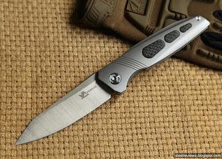Dicoria Ellipsis titanium frame-lock flippers with M390 blade